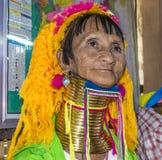 женщина трибы портрета padaung Стоковое Изображение RF