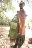 женщина трибы Танзании datoga Африки Стоковое фото RF