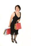 женщина увеличения объема покупок Стоковые Изображения RF