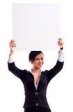 женщина удерживания дела доски Стоковое фото RF