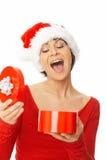 женщина удерживания подарка Стоковое фото RF