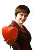женщина удерживания сердца Стоковые Изображения RF