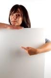 женщина удерживания 11 знамени Стоковая Фотография