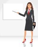 женщина указателя иллюстрация вектора