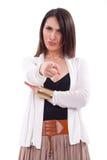 Женщина указывая на вас с ее пальцем стоковое фото