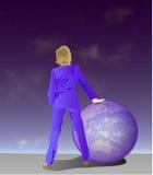 женщина управления Стоковое Фото