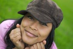 женщина усмешки стоковая фотография