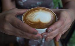женщина удерживания кофейной чашки Стоковое Изображение RF
