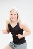 Женщина фитнеса белокурых волос Стоковая Фотография