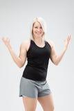 Женщина фитнеса белокурых волос Стоковые Фото