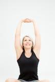 Женщина фитнеса белокурых волос Стоковое Фото