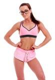 Женщина фитнеса в больших eyeglasses Стоковая Фотография RF