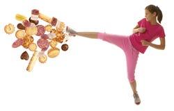 Женщина фитнеса диеты стоковая фотография