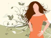 женщина флористическая Стоковые Фотографии RF