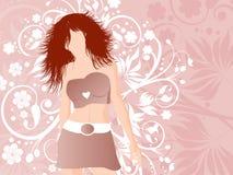 женщина флористическая Стоковые Изображения