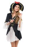 женщина формы пирата costume масленицы Стоковая Фотография