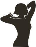 женщина формы Стоковое Фото
