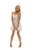 женщина формы costume масленицы ангела Стоковая Фотография