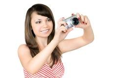 женщина фотографа стоковые фото