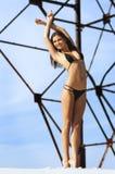 женщина фотоснимка пляжа красивейшая Стоковое фото RF