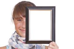 женщина фото рамки Стоковое Фото