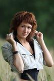 женщина фото романтичная Стоковое Изображение