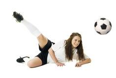 женщина футбола Стоковое Изображение RF