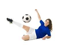 женщина футбола Стоковое фото RF