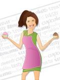 Женщина хлебопекарни Стоковые Изображения