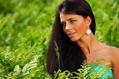 женщина цветка поля Стоковые Фото
