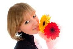 женщина цветка Стоковые Изображения