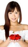 женщина цветка Стоковые Изображения RF