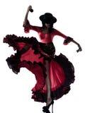 женщина цыганина flamenco танцы танцора Стоковое Изображение RF