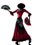 женщина цыганина flamenco танцы танцора Стоковое Изображение