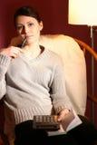 женщина чалькулятора Стоковые Изображения RF