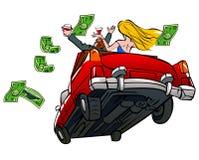 женщина человека автомобиля иллюстрация вектора