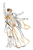 женщина человека изображения танцульки Стоковая Фотография RF