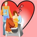 женщина человека иллюстрации семьи младенца счастливая иллюстрация вектора