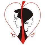женщина человека логоса Стоковые Фотографии RF