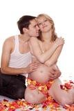 женщина человека ожиданности ребенка Стоковое Изображение