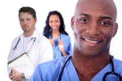 женщина человека поля медицинская Стоковое Фото