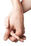 женщина человека рук Стоковые Изображения RF