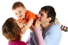 женщина человека семьи младенца счастливая стоковое изображение
