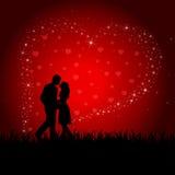 женщина человека сердца предпосылки Стоковое Изображение RF