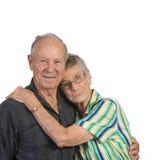 женщина человека старая совместно Стоковое Фото