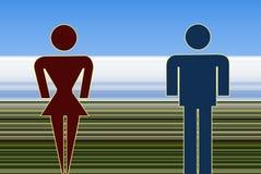 женщина человека Стоковые Изображения RF