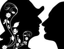 женщина человека Стоковое Изображение