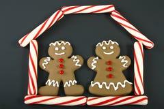 женщина человека gingerbread Стоковая Фотография RF