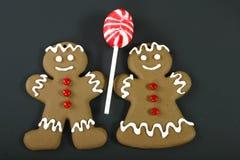 женщина человека gingerbread Стоковые Фотографии RF