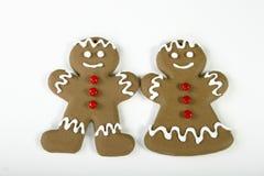 женщина человека gingerbread Стоковое Фото